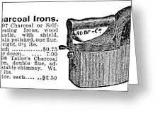 Charcoal Iron, 1895 Greeting Card
