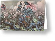 Charge Of The 54th Massachusetts Greeting Card