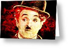 Charles Chaplin Greeting Card