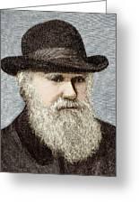 Charles Darwin, British Naturalist Greeting Card by Sheila Terry