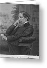 Charles Dickens, English Author Greeting Card