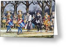 Charles I's Last Walk  Greeting Card by Ron Embleton
