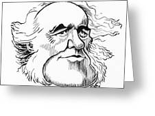 Charles Lyell, Caricature Greeting Card by Gary Brown