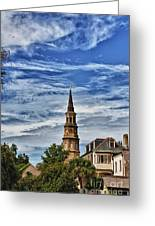 Charleston Church Steeple Greeting Card