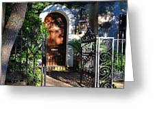 Charleston Door Greeting Card by Lori Kesten
