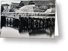 Charleston South Carolina - Vanderhorst Wharf - C 1865 Greeting Card