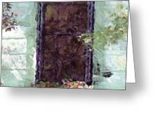 Charlestons Windowbox Greeting Card by Donna Bentley