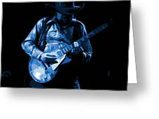 Playing The Blues At Winterland In 1975 Greeting Card