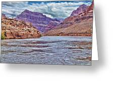 Charting The  Mighty Colorado River Greeting Card