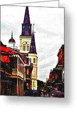 Chartres Street - New Orleans Greeting Card