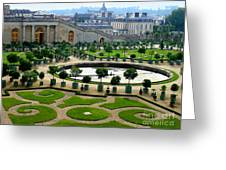 Chateau De Versailles Garden In France Greeting Card
