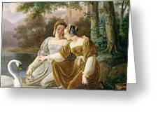 Chatelaines Greeting Card by Pierre Henri Revoil