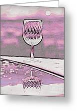 Cheers On Icy Snow Greeting Card by Phyllis Kaltenbach
