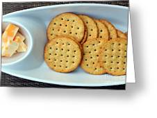 Cheese And Crackers Greeting Card