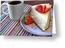 Cheesecake Greeting Card