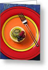 Cheesecake On Plate Greeting Card by Garry Gay