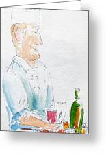 Chef In Action Greeting Card