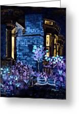 Chelsea Row At Night Greeting Card