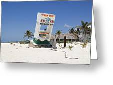 Chen Rio Beach Bar Cozumel Mexico Greeting Card