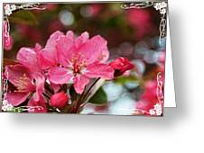 Cherry Blossom Greeting Card Blank With Decorations Greeting Card