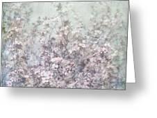 Cherry Blossom Grunge Greeting Card