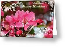 Cherry Blossoms Greeting Card  Bi Greeting Card