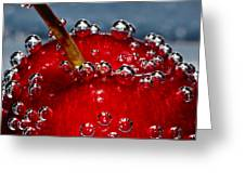 Cherry Bubbles Under Water Greeting Card by Tracie Kaska