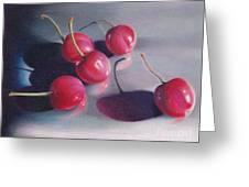 Cherry Talk Greeting Card by Elizabeth Dobbs