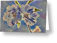 Cherry Vibrato In Monochrome Greeting Card by Jen White