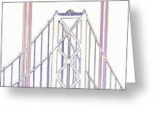 Chesapeake Bridge Between The Lines Greeting Card
