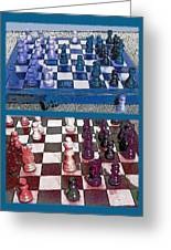 Chess Board - Game In Progress Diptych Greeting Card