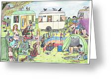 Chest Out Camping Greeting Card