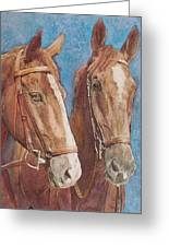 Chestnut Pals Greeting Card