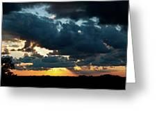 Chestnut Ridge Sunset 2642 Greeting Card