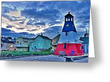 Cheticamp In Cape Breton Nova Scotia Greeting Card