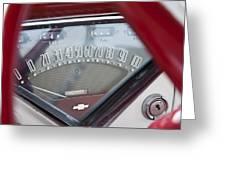 Chevrolet 3100 Truck Speedometer Greeting Card