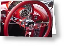 Chevrolet Corvette Steering Wheel Greeting Card