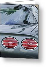 Chevrolet Corvette Tail Light Greeting Card