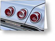 Chevrolet Impala Ss Taillight Greeting Card