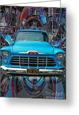 Chevrolet Pick Up Abstract Greeting Card