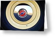Chevrolet Wheel Emblem Greeting Card