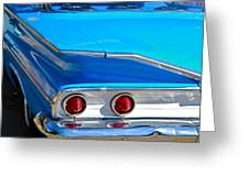 Chevy Bel Air Fin Greeting Card