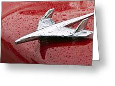 Chevy Bel Air Nomad Hood Ornament Greeting Card