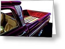 Chevy Custom Truckbed Greeting Card