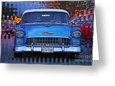 Chevy Front End Greeting Card