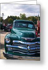 Chevy In Green Greeting Card