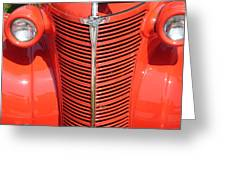 Chevy Orange Greeting Card