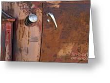 Chevy Truck Door Handle Detail Greeting Card