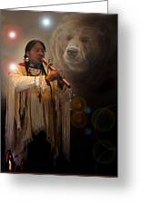 Cheyenne  Flute  Musician Greeting Card