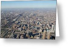 Chicago From The Top Of The Willis Tower Greeting Card